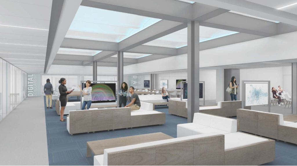 Architectural rendering of the CUNY 2020 space.